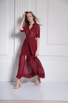 платье AMORI 9484 бордовый
