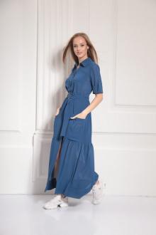 платье AMORI 9484 синий