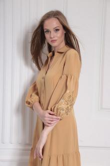 платье AMORI 9485 горчица