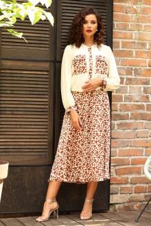 Мода Юрс 2553 молочный_леопард