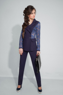 брюки,  жакет ElPaiz 307 темно-синий