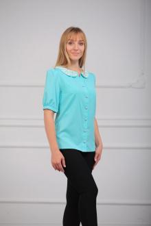 Блуза LUXTEX 0715 бирюза