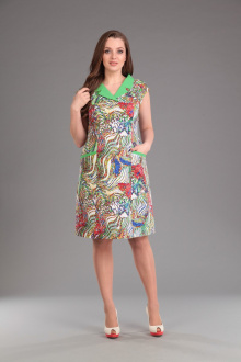 Lady Style Classic 874 цветной+зелень