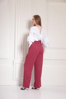 брюки AMORI 5110 вишня_полоска