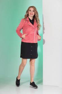 куртка,  платье Angelina & Сompany 394 розовый-черный
