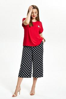 блуза,  брюки TEZA 1513 красный