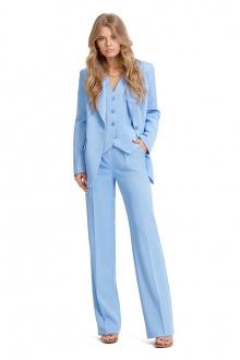 брюки,  жакет,  жилет PiRS 1337 голубой