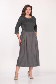 Lady Style Classic 1681/5 серый-бордо