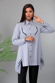 блуза Арита-Denissa 1319 серо-голубой