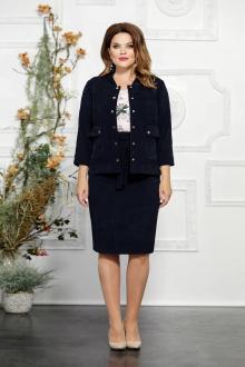 блуза,  жакет,  юбка Mira Fashion 4826-2 синий