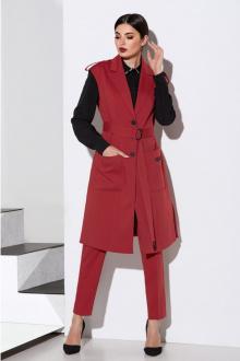 блуза,  брюки,  жилет,  пояс Lissana 4121 клюква
