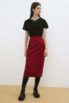 юбка LaVeLa L20163 красный/черный