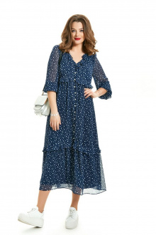 платье TEZA 1549 синий