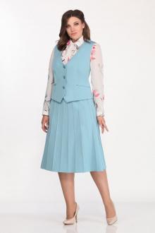 блуза,  жилет,  юбка Lady Secret 1607 бирюза