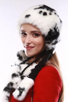 Зима Фэшн 023-1-10 черно-белый_под_норку