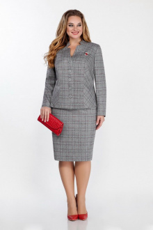 жакет,  юбка LaKona 1059 серый+красный