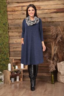 платье, шарф Anastasia 495 синий