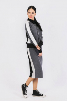 джемпер,  юбка Daloria 9059 темно-серый