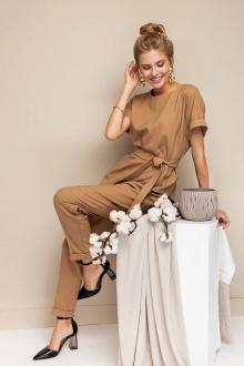 блуза,  брюки Daloria 9095 песочный