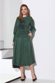 блуза,  юбка Lissana 4141 зеленый