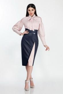 блуза,  юбка LaKona 1308-1 синий-пудра