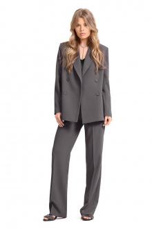 брюки,  жакет,  топ PiRS 1323 темно-серый-черный