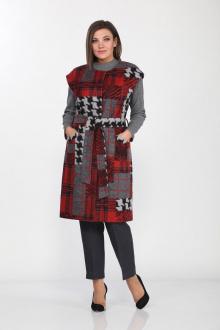 Lady Style Classic 1156/1 серый-красный
