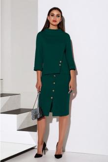 блуза,  юбка Lissana 4072 темный_изумруд