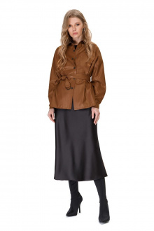 рубашка,  юбка PiRS 1536 карамель+черный