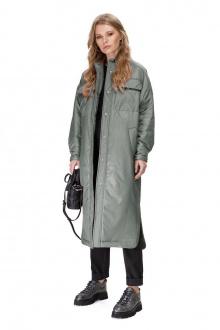 Пальто PiRS 1678 серо-зеленый
