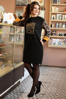 Мода Юрс 2610 черный_леопард