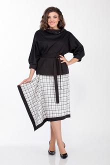 блуза,  юбка LaKona 1332 черно-белый