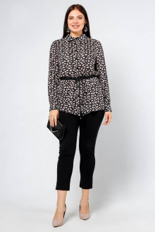 блуза La rouge 6170 черный-(розовый)