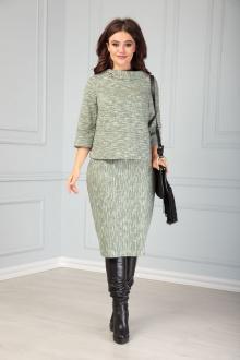 блуза,  юбка Anastasia 508 олива