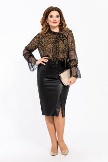 блуза,  юбка TEZA 1448 черный