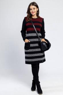 Bonadi 1374 черный-бордовый