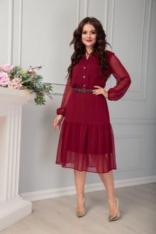 Платье Anastasia 488 бордо