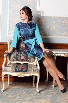 Мода Юрс 2529 бирюза-синий