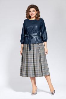 блуза,  юбка Милора-стиль 829 синий