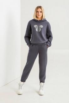 брюки, худи SODA 547 серый