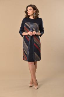 Lady Style Classic 1964 темно_синий-красный
