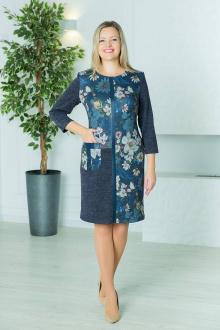 Viktoria 110 синие-цветы