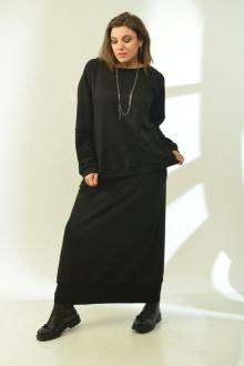 свитшот,  юбка GRATTO 1008 черный