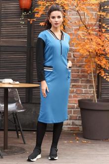 Мода Юрс 2614 голубой-черный