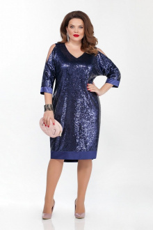 платье TEZA 1824 синий