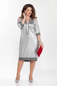 платье TEZA 1839 светло-серый