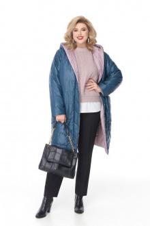 пальто Pretty 1208 изумруд-пудра