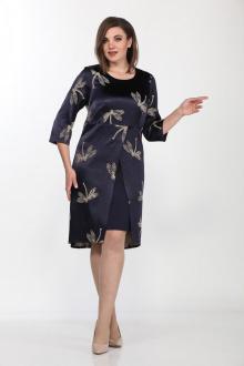 Lady Style Classic 1195/2 темно-синий_беж_стрекозы