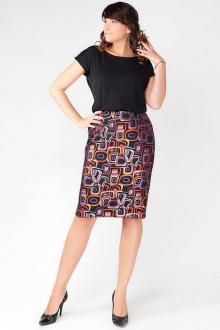 юбка La rouge 7031 черный-набивной
