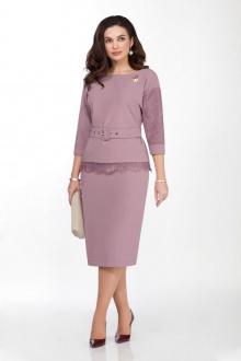 блуза,  юбка TEZA 132 пыльно-розовый